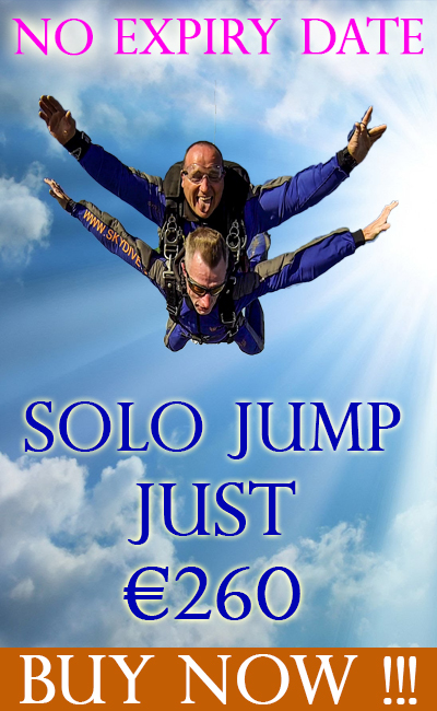 Solo Jump at Skydive.ie and the Irish Parachute Club