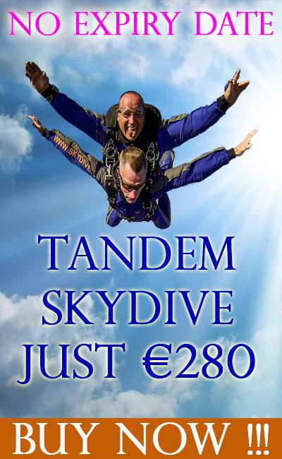 Tandem Jump / Skydive at Skydive.ie and the Irish Parachute Club