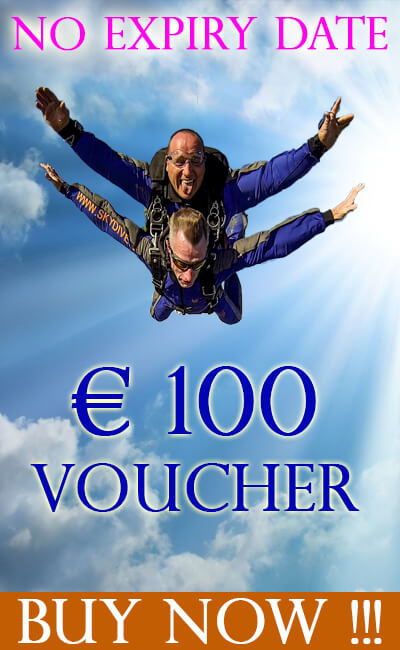 €100 euro Voucher at Skydive.ie and the Irish Parachute Club