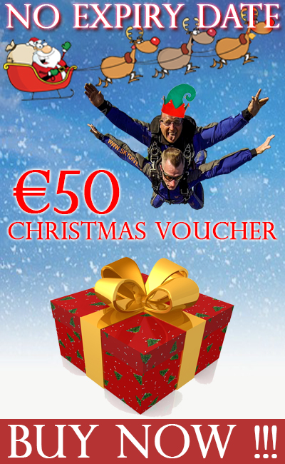 €50 euro voucher at Skydive.ie and the Irish Parachute Club