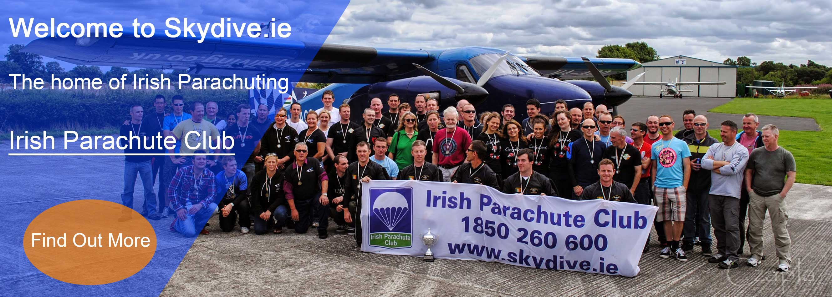 Welcome to Skydive.ie the home of the Irish Parachute Club