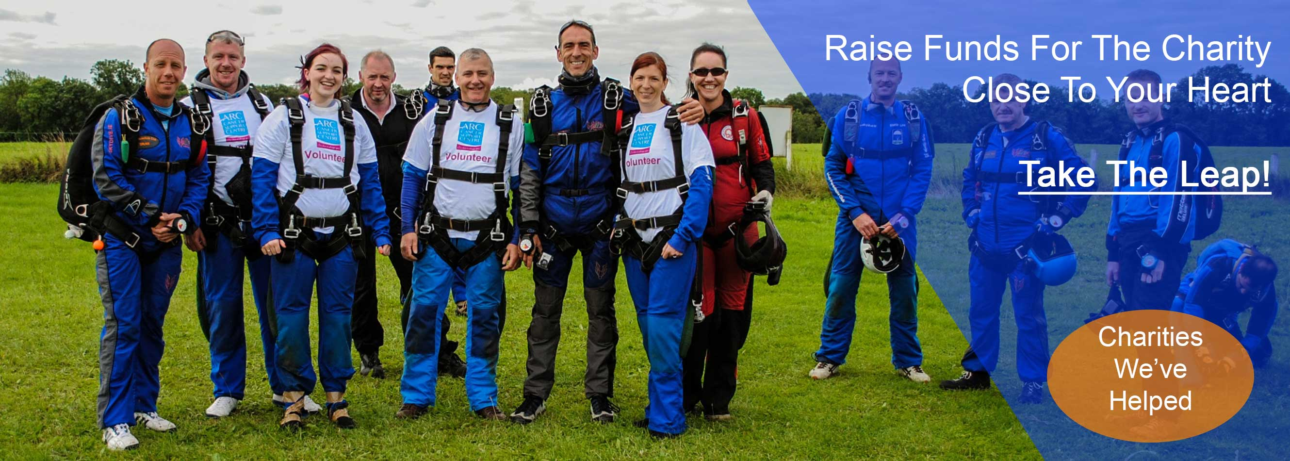 Raise funds for the charity close to your heart with Skydive.ie and the Irish Parachute Club