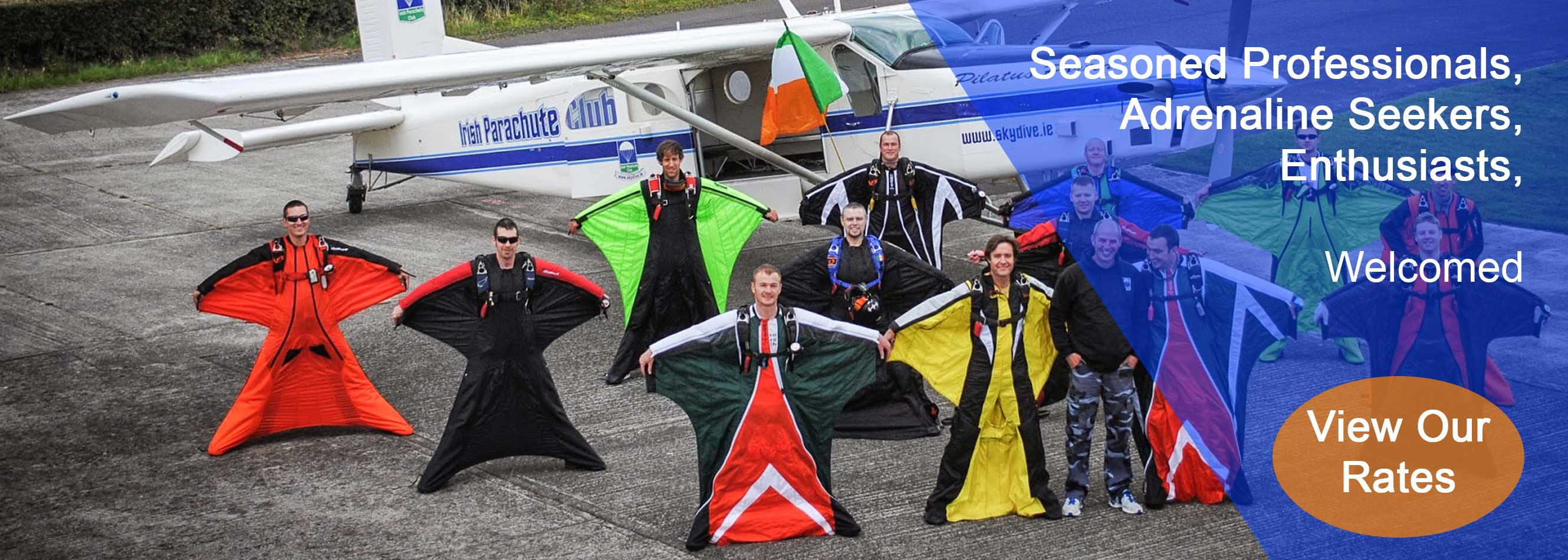 Seasoned Professionals, Adrenaline Seekers, and enthusiasts welcomed at Skydive.ie and the Irish Parachute Club