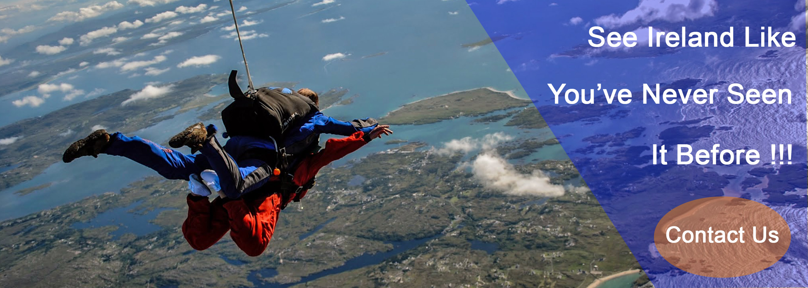 See Ireland like you've never seen it before with Skydive.ie and the Irish Parachute Club